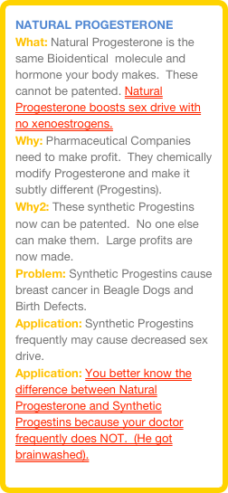 Progesterone and sex drive arousal